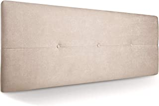 comprar comparacion SuenosZzz-Cabecero Jazmin Tapiceria tela Rio Beige Antimanchas 160 x 50 x 4 cm con capitone