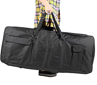 "Gecheer 61-Key Keyboard Electric Piano Organ Gig Bag Soft Case Dual Zipper 39.3"" * 15.7"" 600D Cloth PE Foam Padded"