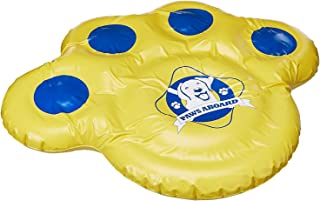 "Paws Aboard Doggy Lazy Raft, Puncture Resistant Vinyl Dog Float, Perfect for the Lake, Pool, River and Boat – Small (30"" x 23"") or Large (50"" x 40"")"