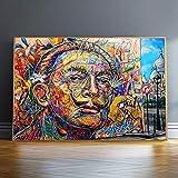 wZUN Graffiti Art Lienzo Pintura en la Pared Carteles e Impresiones artísticas en la Pared Street Art Lienzo Cuadros decoración para el hogar 60x90 Sin Marco