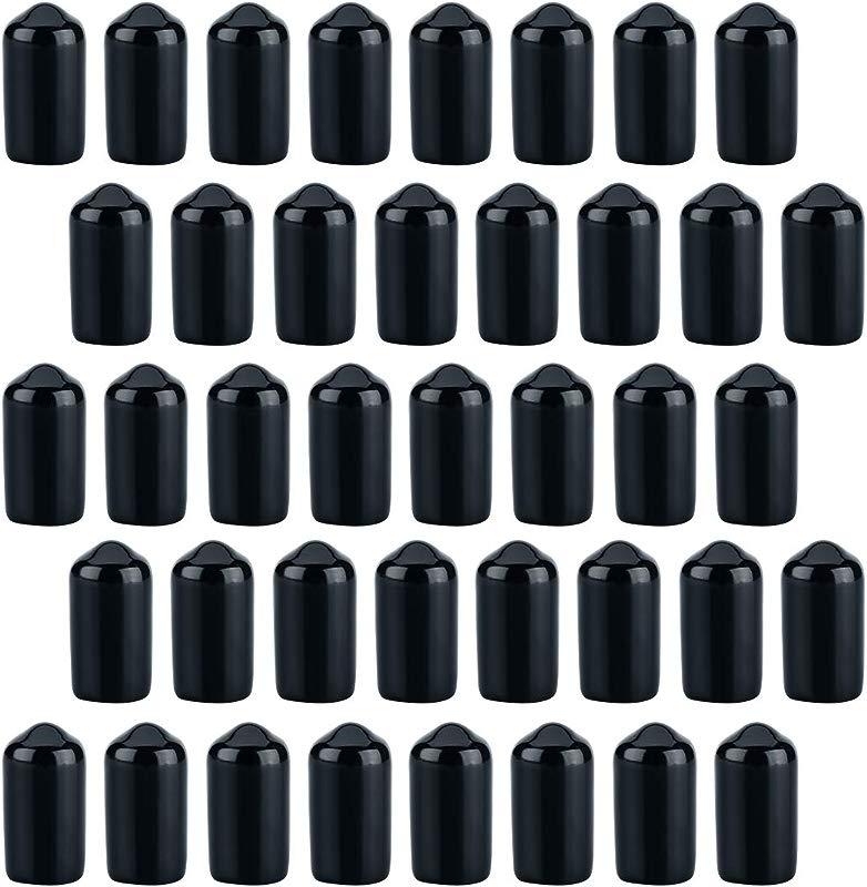 150 Pack Liquor Bottle Covers Bottle Caps Spout Covers Spot Pourers Black