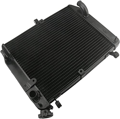 discount Mallofusa Motorcycle Aluminum Radiator Cooling wholesale Cooler Compatible for Yamaha YZF R1 high quality 2002 2003 Black online