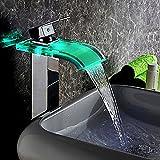 JiaYouJia Robinet, Mitigeur de Récipient Bassin Lavabo Vasque avec LED Cascade 4...