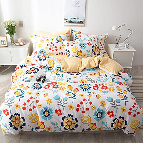 IKITOBI Extra Deep Fitted Bed sheet Bedding Bed Sheets Plain Dyed 1.8m Bed Four-Piece Suit