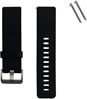 HEYUS Replacement Band Strap for Fitbit Blaze, Soft Silicone Rubber Sport Wrist Strap Watch Band Bracelet Stainless Steel ...