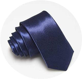 Tie for Men Slim Tie Solid color Necktie Polyester Narrow Cravat 5cm Party Formal Ties Fashion
