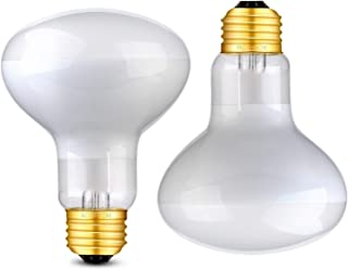 Aomryom 100W UVA Basking Spot Heat Lamp Bulb Soft White Light Glass Heat Bulbs for Reptile & Amphibian - 2 Pack
