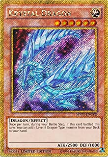 Yu-Gi-Oh - Krystal Dragon - MVP1-ENGV2 - Gold Secret Rare - Limited Edition - the Dark Side of Dimensions Movie Pack Gold Edition (Limited Edition)