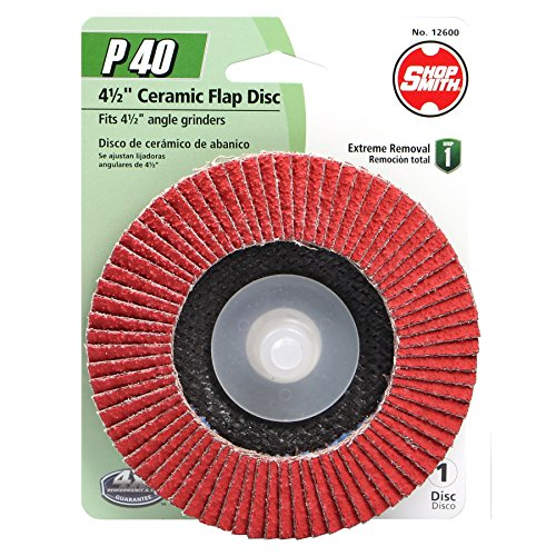 """40 Grit Ceramic Specialty (1 Pack), 4.5"""" - Shopsmith 12600"""