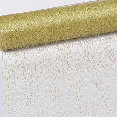 Spiderweb - Mesch - Tafelloper - Tafelband - 30cm metallic goud - Rol 25m - 67 003-R 300