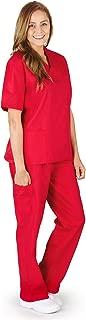Women Scrub Set Medical Scrub Top and Pants. Run Large