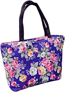 Wultia - Bags for Women 2019 Women Girls Printing Canvas Shopping Handbag Shoulder Tote Shopper Bag Luxury Handbags *0.92 Purple