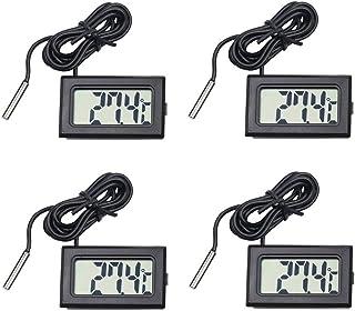 4個デジタルLCD温度計温度計-50℃~110℃爬虫類テラリウム魚タンク冷蔵庫用プローブ付き水族館温度計