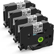 MarkDomain Replacement for TZe-131 4 Pack Black on Clear 0.47
