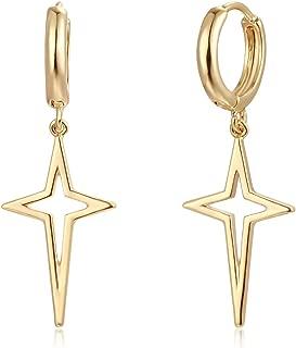 Best 14k gold star hoop earrings Reviews