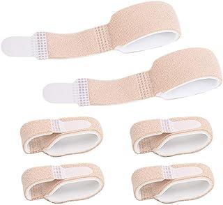 Healifty 6Piezas Brace para dedos Soporte de férula para dedo del pie Soporte de Tablilla con Abrazadera para Dedo de Martillo