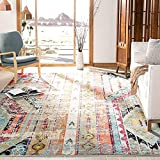 SAFAVIEH Monaco Collection MNC222F Boho Chic Tribal Distressed Non-Shedding Living Room Bedroom Accent Area Rug, 4' x 5'7', Multi