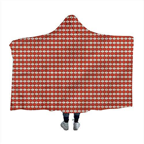 Retro deken jaren zestig vintage mozaïek tegel winter nieuwigheid deken 50