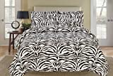 Zebra Black and White Down Alternative Comforter Set Twin