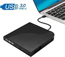 STOTOY External DVD CD, USB 3.0 Slim Portable External CD Burner Writer Drive Player, High Speed Data Transfer for PC Desktop/Laptop/Windows/Linux/Mac OS (Black)