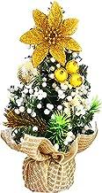 20CM Mini Christmas Tree Exquisite Bouquet Seasonal Ornament with Xmas Balls Decor Fake Christmas Tree Desktop Ornament fo...