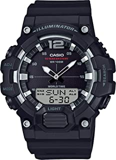 Casio Men's Black Dial Resin Band Watch - HDC-700-1AVDF