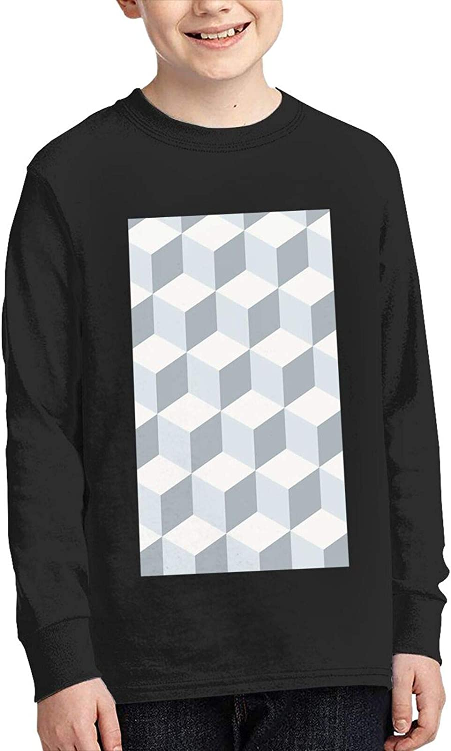 Square Three Dimensional Ladder Sweater Fashion and Comfortable Children's Sweater