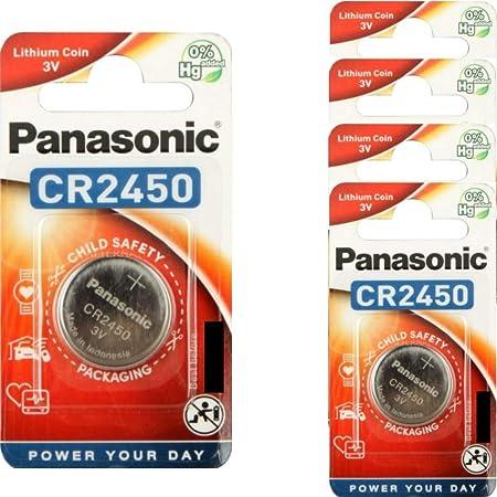 Panasonic Cr2450 Lithium Knopfzellen 5 Stück Elektronik