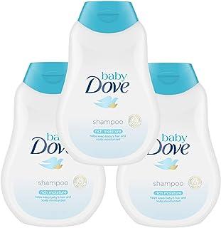 Baby Dove Tear Free Shampoo, Rich Moisture - 13.5 Fl Oz / 400mL x 3 Pack