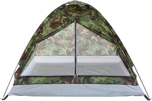 Ashuang Tente portative de Camping en Plein air pour Camouflage de Polyester à Une Seule Couche de Tente à 2 Personnes