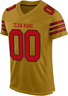Make Your Own Custom Football Jersey, Football Team Uniforms with Your Name&Numbers for Stitched Mesh Jersey