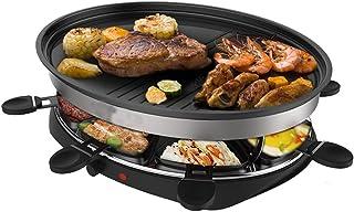 Appareil à raclette traditionnel pour 8 personnes avec surface de cuisson plus saine, antiadhésive et contrôle de la chale...