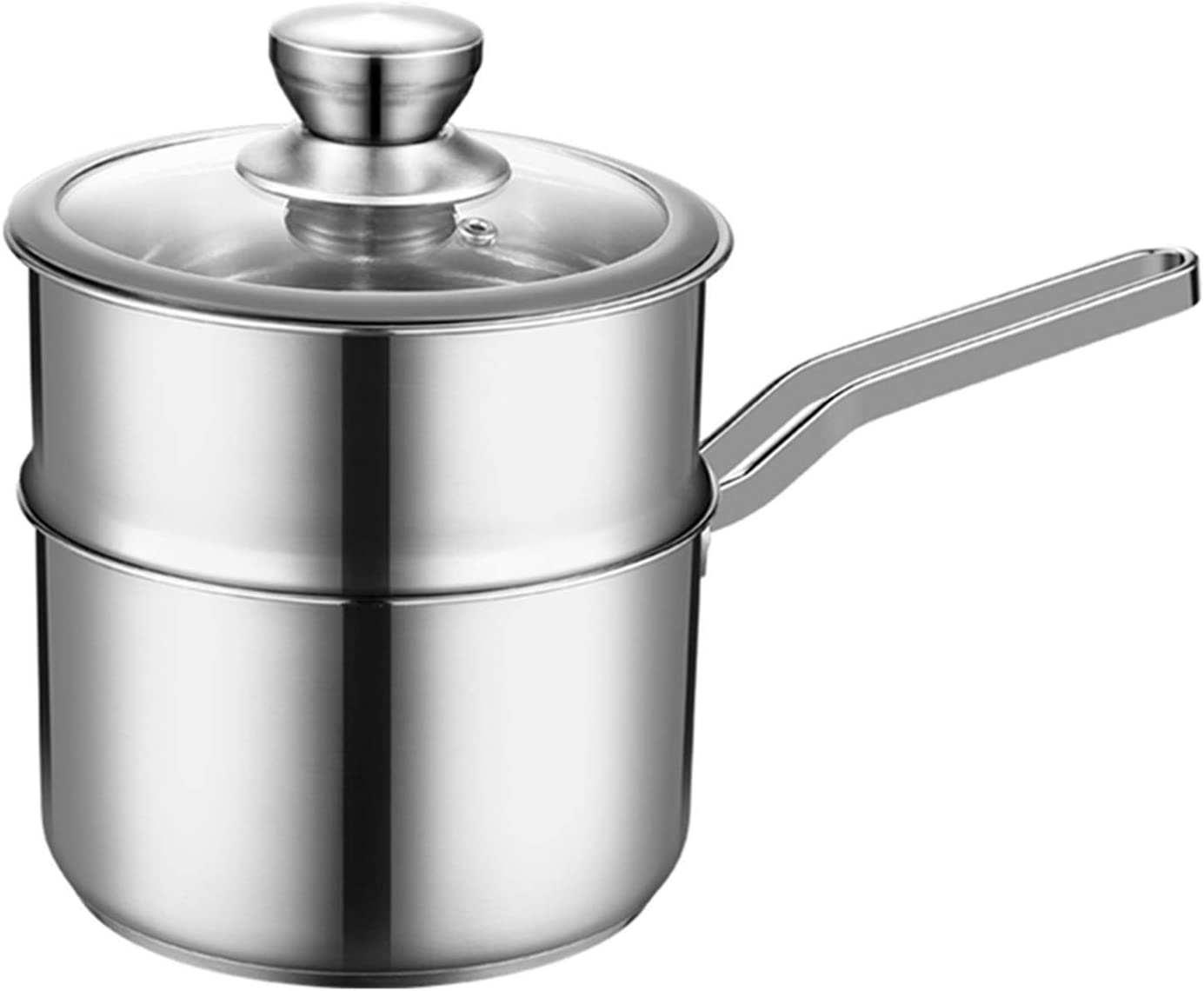 Stainless Steel Easy-to-use Food Steamer Pan Lid Milk Superior With Bottom Thick