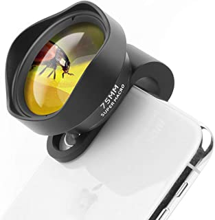 ULANZI 10X Macro Phone Camera Lens,75mm Super Macro Clip on Mobile Phone Lens for iPhone 11 Pro Max X XS Max 8 Plus Pixel ...