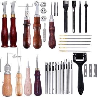 Puzzle Kit de Gravure sur Cuir Art Tools Articles en Cuir Faits à La Main Ensemble Cousu à La Main Ensemble D'outils en Cu...