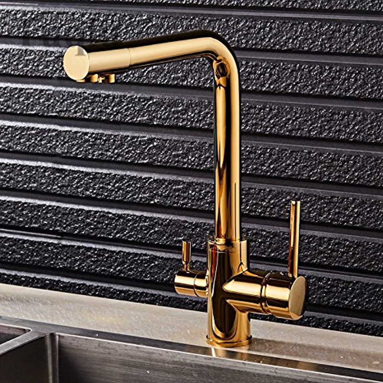 YAWEDA Wholesale Osmosis Solid Brass Swivel Square Style Sink Mixer Drinking Water Kitchen Faucet 3 Way Water Filter Tap