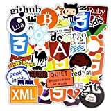 Self-adhesive programming language stickers for software geeks. Glossy Finish. Easy to apply, easy to remove. Suitable for mobile phone, laptop, monitor, desk etc. Appropriate machine cuts, no need to cut manually, tear off and stick. Each single sti...