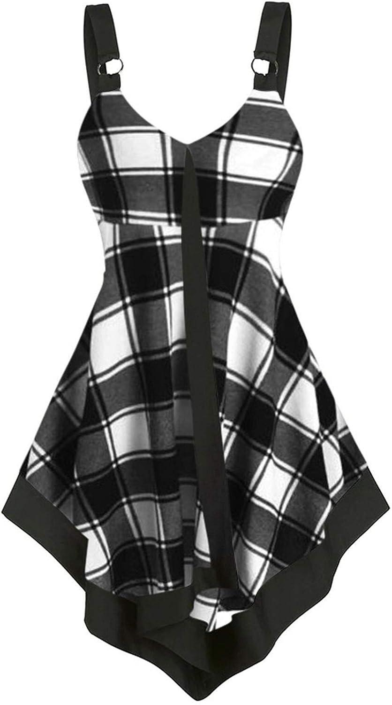 Gwewei4df Womens Genuine Free Shipping Sexy Cami Swing Vest Ladies V-Ne Virginia Beach Mall Clubwear Skirt