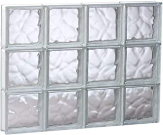 32 in. x 24 in. x 3 in. Non-Vented Wave Pattern Glass Block Window