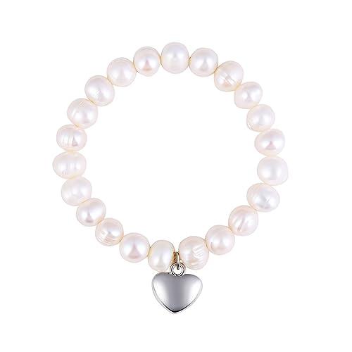 "7afd21123 Real Freshwater Pearl Bracelet for Women ""Timeless Design"" – Made Silver  Charm is Elegant"