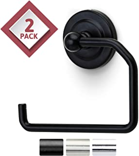 Jack N' Drill 2-Pack Toilet Paper Holder in Classy Oil-Rubbed Bronze with Wall Mount Base, Versatile & Heavy-Duty Bathroom Organizer and Towel Hook, Perfect for Your Home, Bathroom and Kitchen