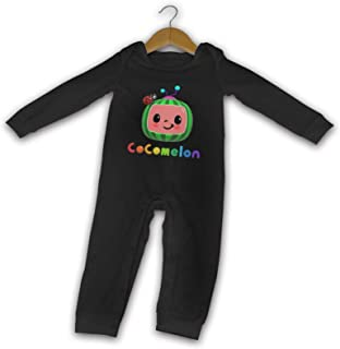 Fp-Linked Baby Cocomelon Fashion Long Sleeves Jersey Bodysuit Boys/Girls Fashion Round Neck Tee Black