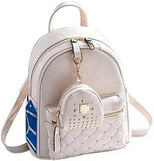 IYI Fashion Girls Bowknot Fashion Backpack Cute Mini Leather Backpack Purse for Women (CPPIYI-0019_CREAM)