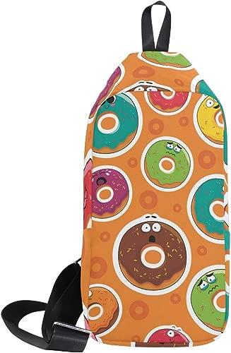 AHOMY Cartoon Donut Emoji Messenger Bag Small Travel School Sling Bag Crossbody Bag