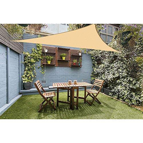 Garden Plants Shade Sail Canopy Outdoor Garden Balcony Terrace Sunscreen Awning Cream with Ropes ANJT (Size : 3x4m)