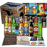 Biere der Welt 9 Flaschen Geschenk für Mann, Geburtstag +Bier Geschenk + Geschenkidee für Männer Geburtstag + Tasting Anleitung + 4x Bierdeckel + 9 x...