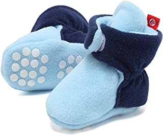 FANTINY Newborn Baby Cozy Fleece Booties with Non Skid Bottom