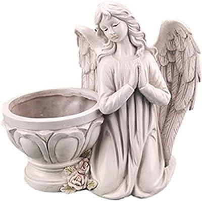 SDLAJOLLA Angel Garden Ornament, Angel Succulent Flower Pot Plant Holder Resin Crafts for Indoor Outdoor Garden Courtyard