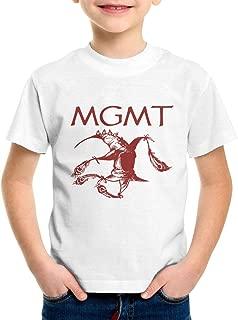 MGMT 2-6 Years Old Boys & Grils Crewneck Short Sleeve T Shirt Black
