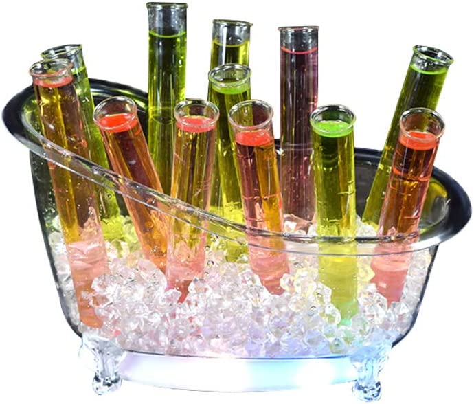 fgdjtyyj San Diego Mall OFFicial site Led Champagne Ice Bucket Capacity Beverag Acrylic Large